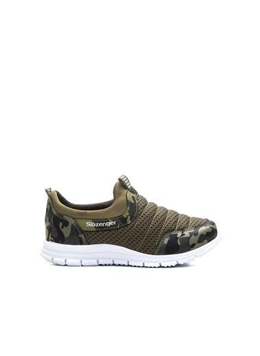 Slazenger Eva Erkek Çocuk Sneaker Ayakkabı Haki